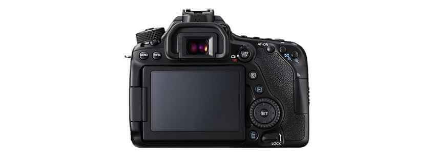 Canon 80D Rear View