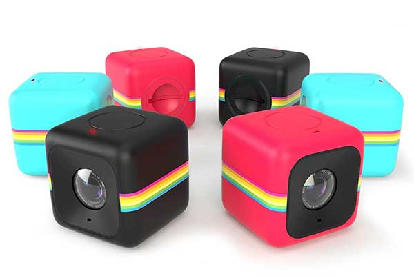 Product shot of the Polaroid Cube action camera.
