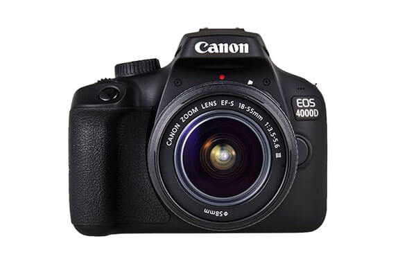 Canon EOS 4000D with 18-55 NON IS Lens
