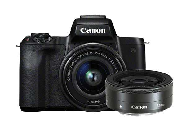 Canon EOS M50 Body Black + 15-45mm + 22mm